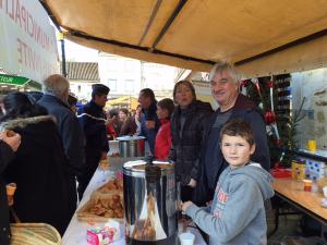 Chocolat, café et viennoiseries offerts par la municipalité